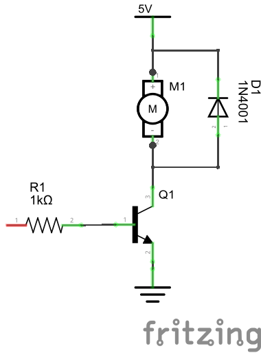 transistor motor control
