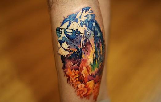 Лев татуировка: значение и фото 31
