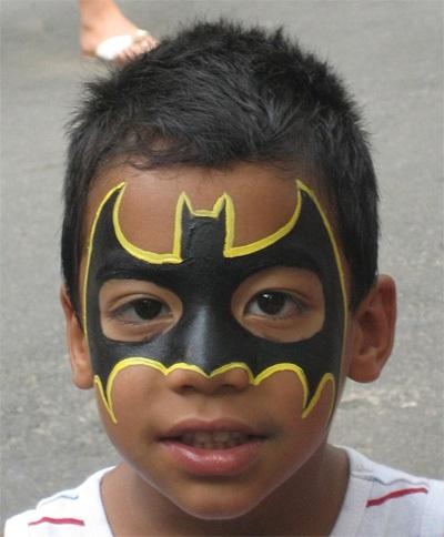 раскрасить лицо ребёнка фото