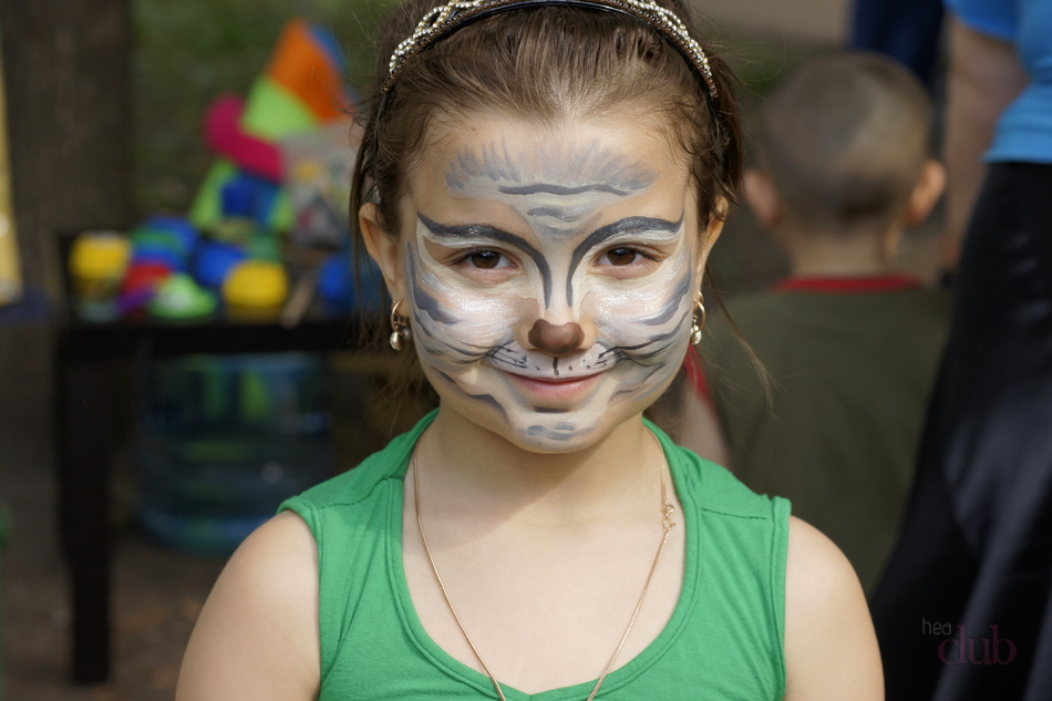 как раскрасить лицо ребенка волк