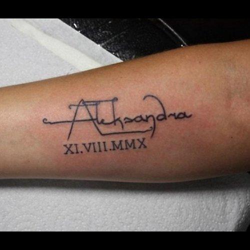 Тату с именем фото вариантов готовых татуировок - m