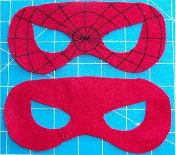 Маска Человека паука своими руками: из ткани, из бумаги 25